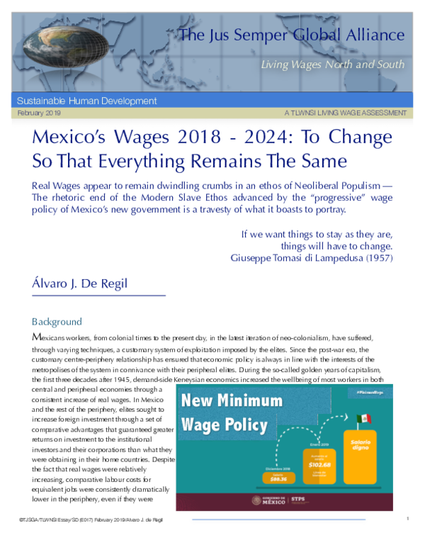PDF) Mexico's Wages 2018 - 2024: To Change So That