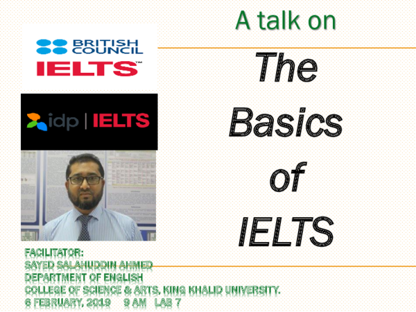 PPT) A talk on IELTS pptx | Sayed Ahmed - Academia edu