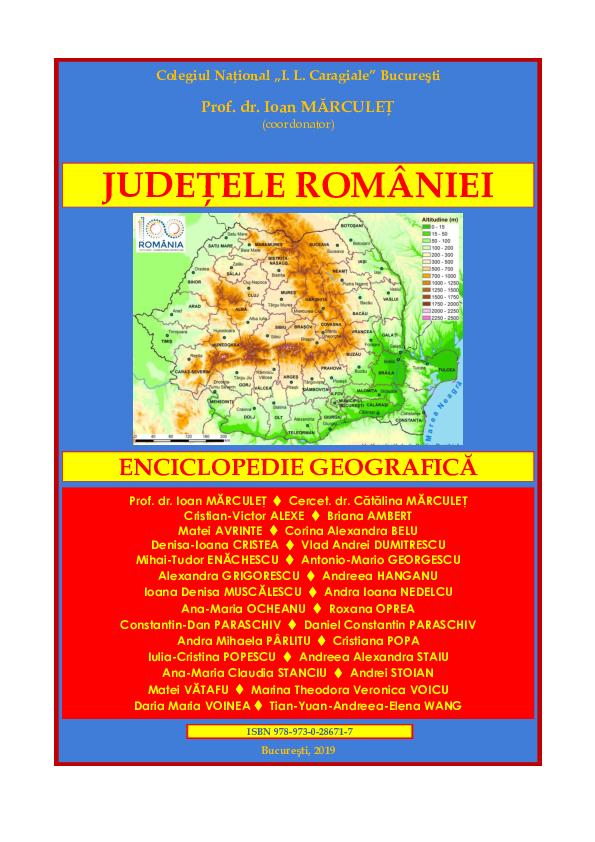 PDF) Judeţele României  Enciclopedie geografică, 2019   Ioan