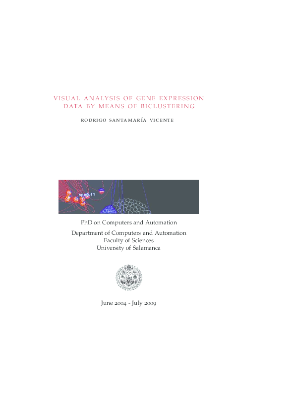 PDF) Visual analysis of gene expression data by means of