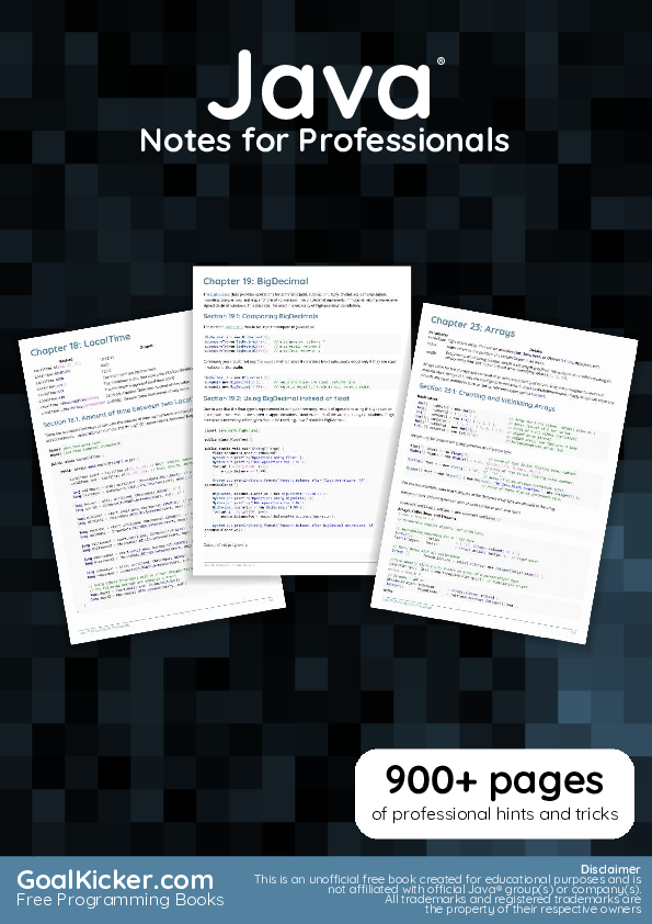 PDF) Java Notes For Professionals   Ahmed Mohy - Academia edu