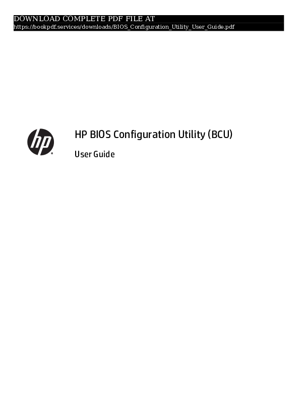 PDF) bios-configuration-utility-user-guide-pdf_8665959 pdf