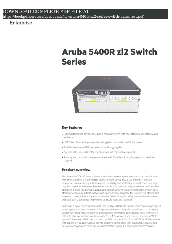 Aruba Switch Management