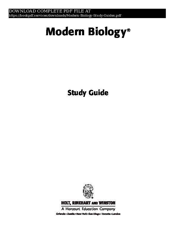 PDF) modern-biology-study-guides-pdf_8454213 pdf | book P D F