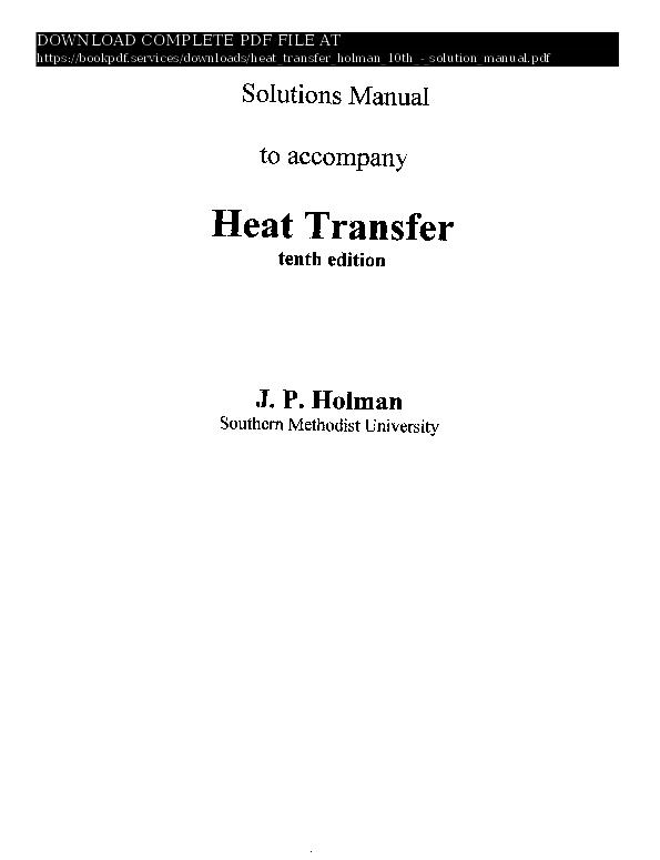 (PDF) heat-transfer-holman-10th-solution-manual-pdf