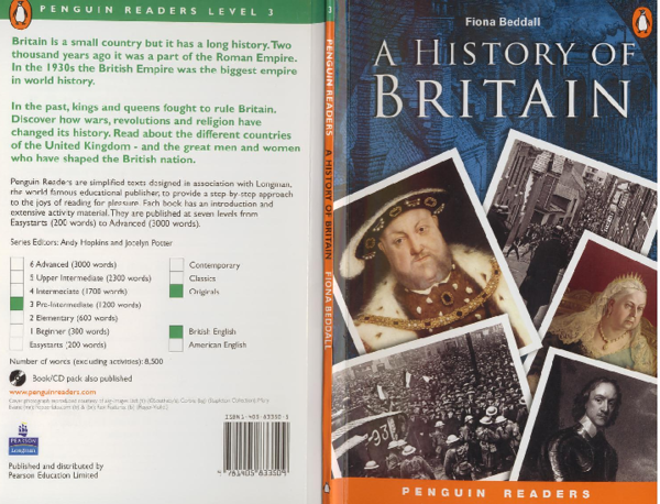 PDF) Level 3 A History of Britain Penguin Readers | Naty
