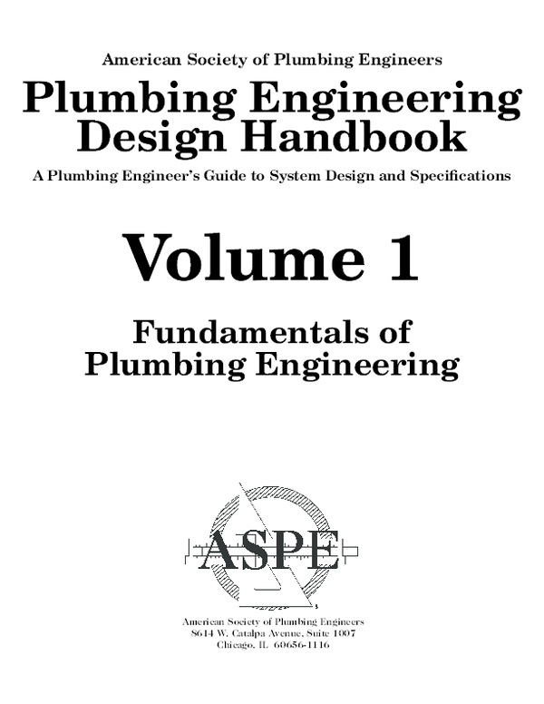 (PDF) Plumbing engineering design handbook volume | Hoa ...