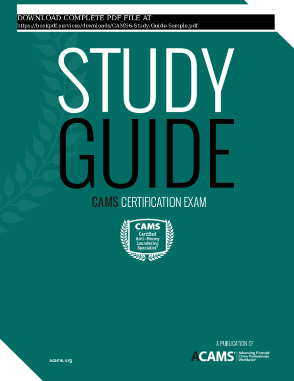 PDF) cams6-study-guide-sample-pdf_7955494 pdf | book P D F