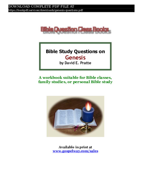 PDF) genesis-questions-pdf_7744185 pdf | book P D F services