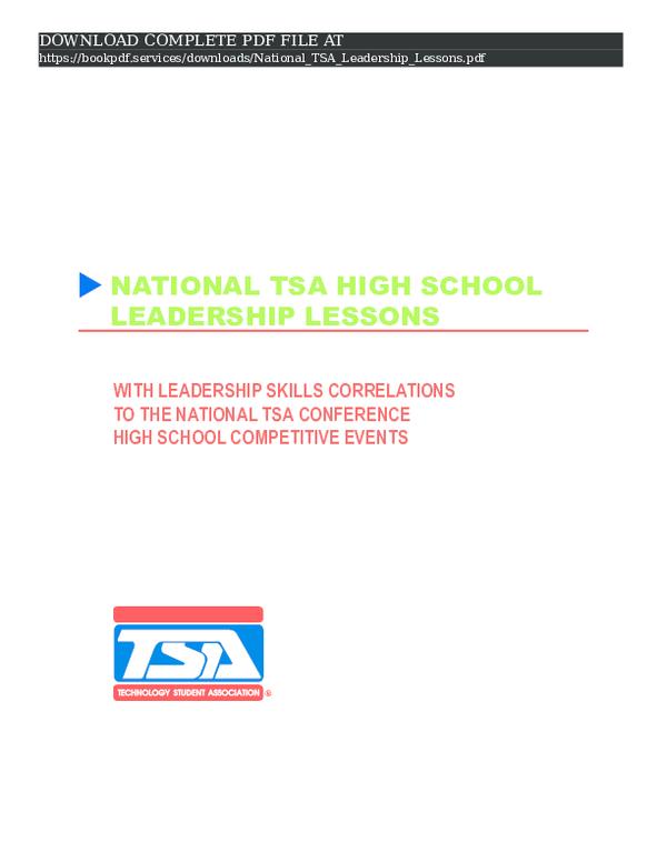 PDF) national-tsa-leadership-lessons-pdf_3458259 pdf | book P D F