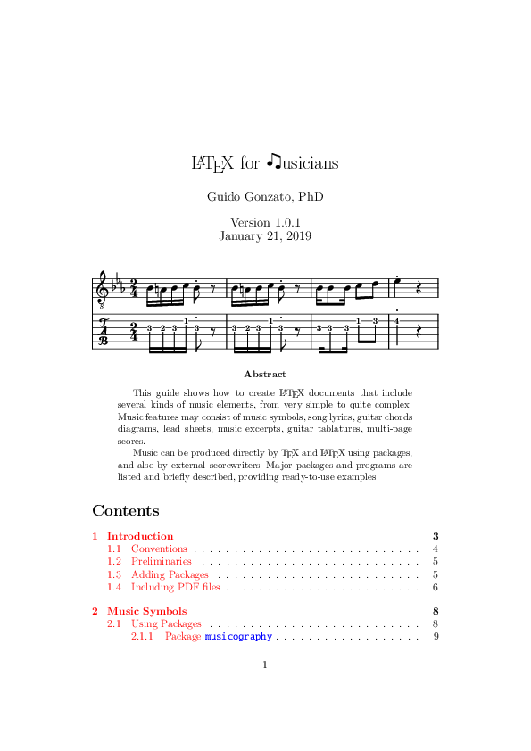 PDF) LaTeX for Musicians: A guide for combining LaTeX and music