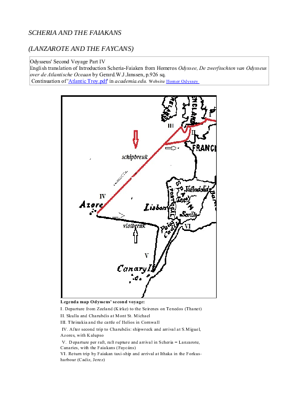 SCHERIA AND THE FAIAKANS - LANZAROTE AND THE FAYCANS   Gerard ... on map voyage of aeneas, map of ulysses voyage, map of christopher columbus voyage, map odysseus voyage home, map of pilgrims voyage,