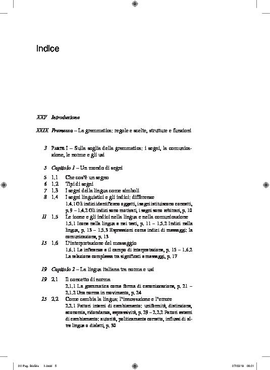 Pdf Manuale Di Linguistica E Di Grammatica Italiana Utet 2019