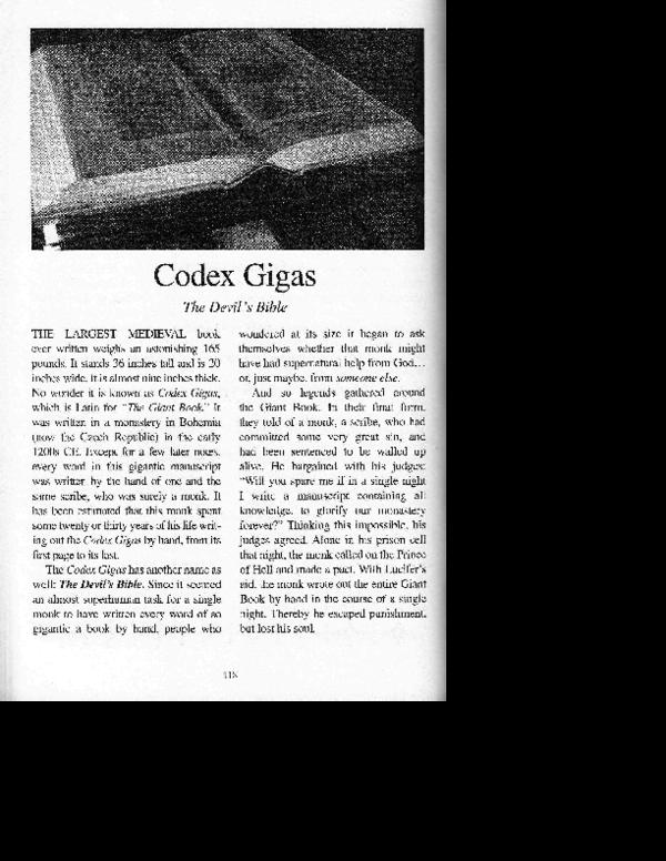 PDF) [Popular 18] Codex Gigas: The Devil's Bible (2018) | Robert