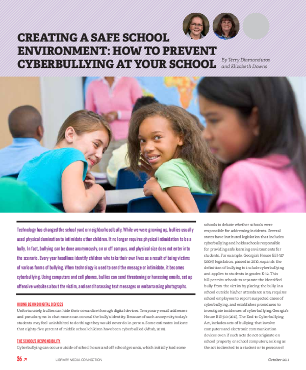PDF) Cyberbullying: Teacher awareness and prevention | Terry
