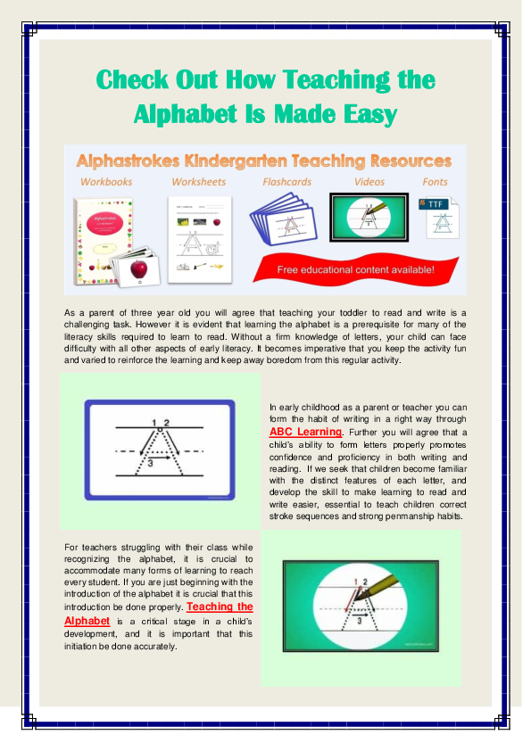 PDF) Teaching The Alphabet.pdf Alpha Strokes - Academia.edu