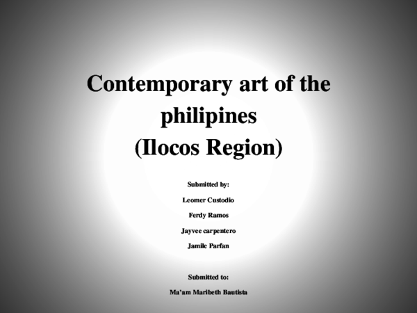 PPT) Contemporary Arts power point lm pptx | Leomer Custodio