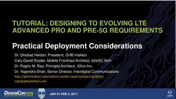 PDF) Tutorial designing evolving LTE advanced-pro and pre