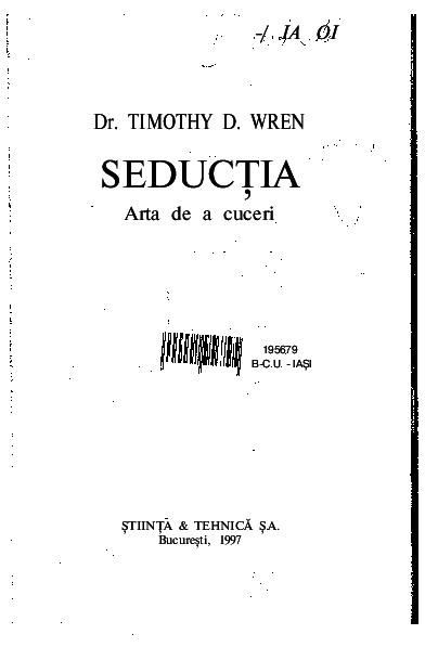 Arta seductiei masculine pdf