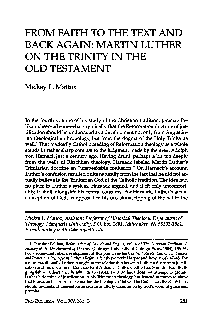 PDF) From Faith to the Text and Back Again: Martin Luther on