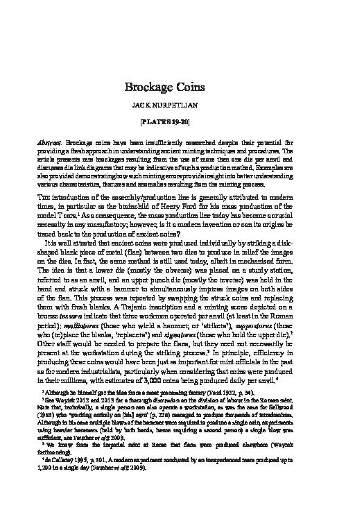 PDF) Brockage coins | Jack Nurpetlian - Academia edu