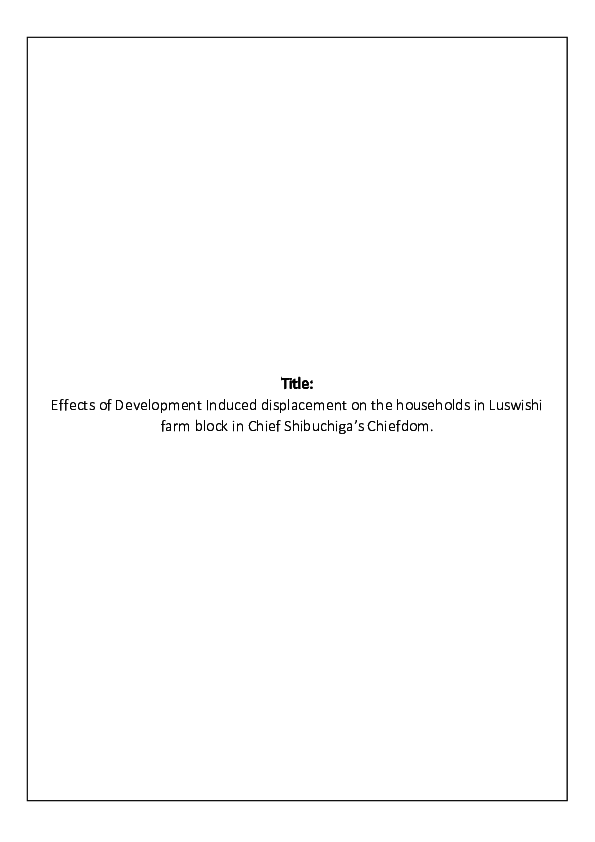 DOC) FINAL REVISED 2018 Proposal docx | temwani mfune