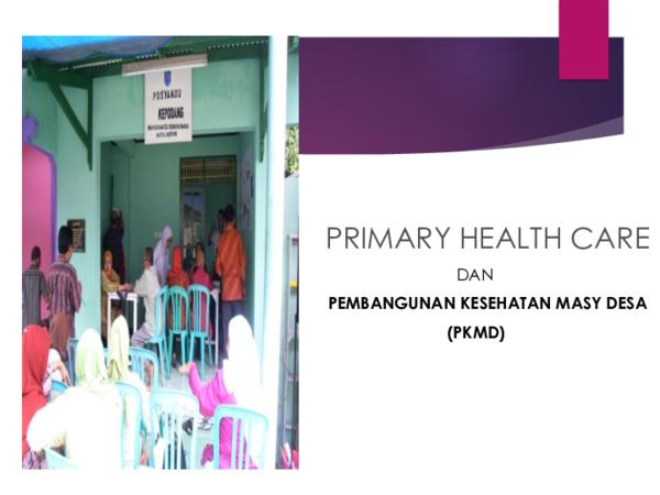 (PPT) Primary Health Care (PHC)   Emilda Emiliano ...