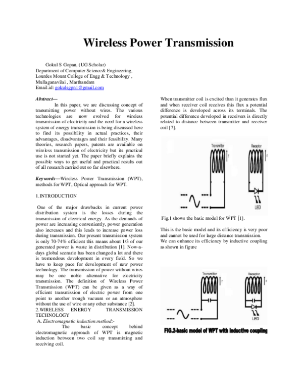 DOC) Wireless Power Transmission  gokul confer docx docx