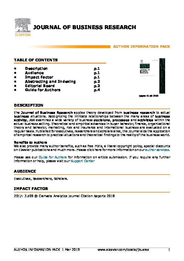 Pdf Journal Of Business Research Fredrick Akpojivi