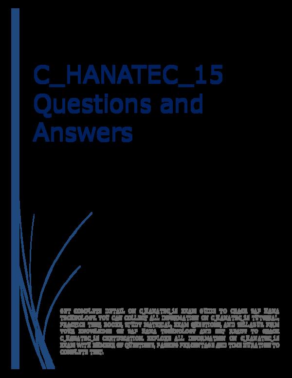 PDF) C_HANATEC_15 Questions and Answers | Seema Iyer - Academia edu
