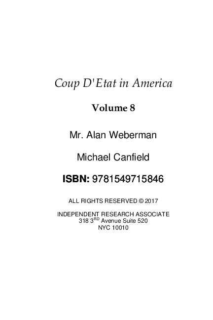PDF) COUP D'ETAT IN AMERICA VOLUME EIGHT | AJ Weberman