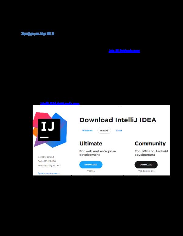 DOC) Run Java on Mac OS X docx | Abdurazak Ngowo - Academia edu