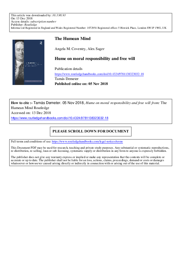 dc7b1124088 PDF) Hume on Moral Responsibility and Free Will