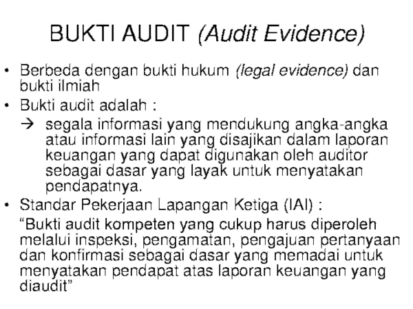 Ppt Bab 4 Bukti Audit Test Transaksi Ppt Arbiyanto Ragarta Academia Edu