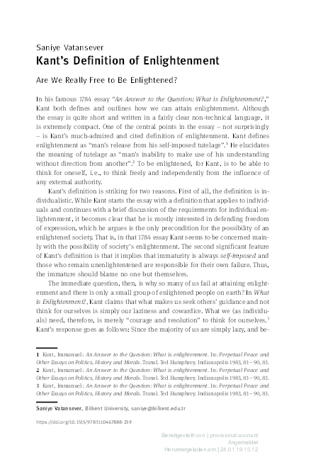 Immanuel Kant What Is Enlightenment Pdf