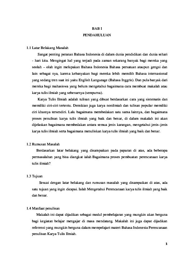 Doc Makalah Perencanaan Karya Ilmiah Docx Nina Dewi Academia Edu