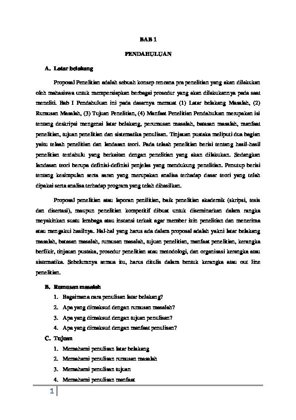 Doc Makalah Tentang Pembuatan Bab I Docx Fina Wuner Academia Edu
