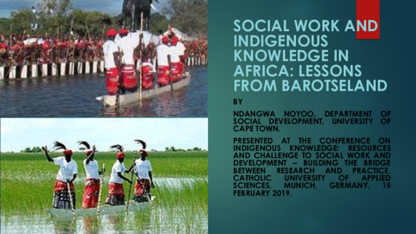 PPT) Social work and indigenous knowledge in Africa: Lessons from