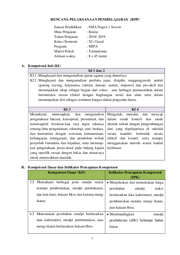 Materi Termokimia Pdf