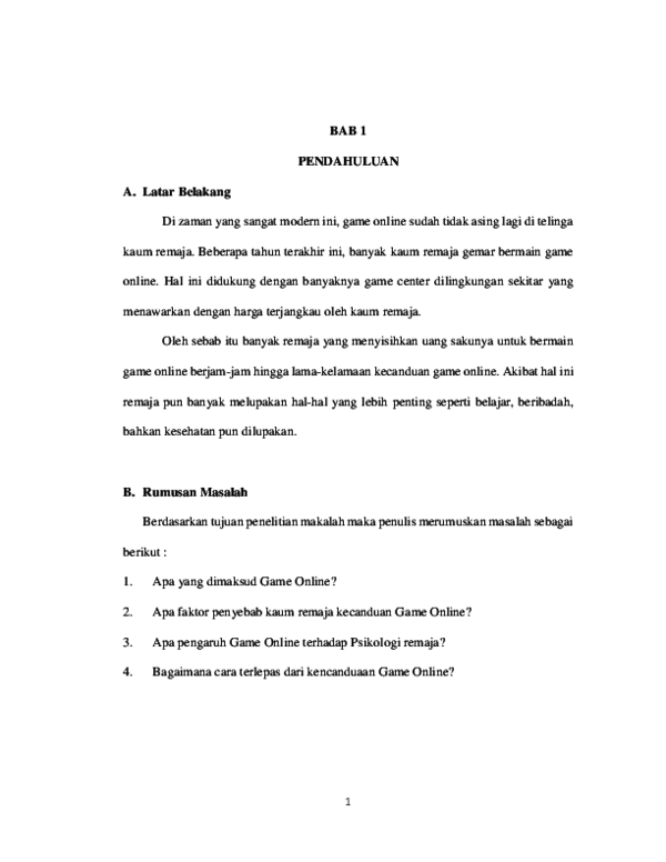 Doc Makalah Pengaruh Game Online Akun Alwahida Academia Edu
