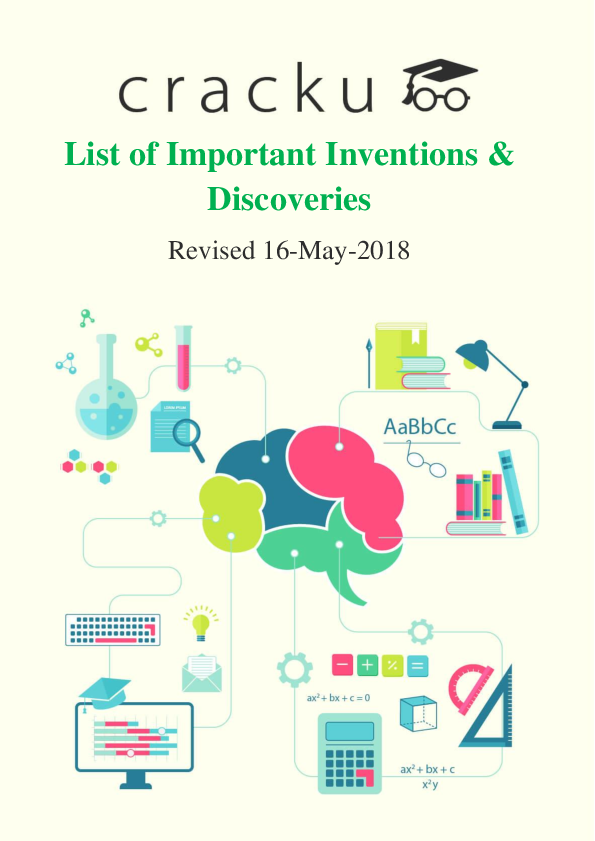 PDF) List of Important Inventions & Discoveries | Sirena