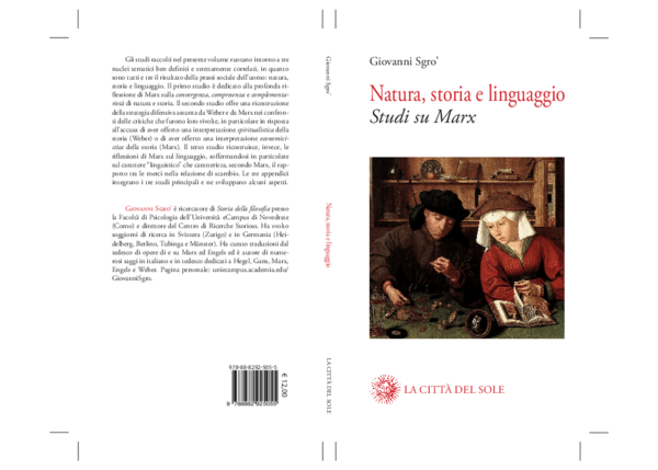 Risultati immagini per Giovanni Sgro', Natura, storia e linguaggio. Studi su Marx