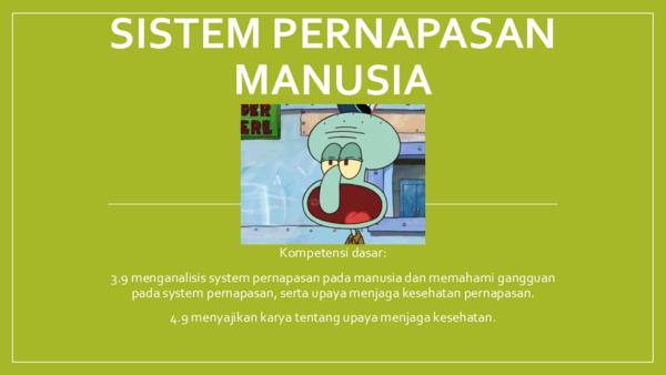 Ppt Sistem Pernapasan Manusia Pptx Raynaldi Agil Academia Edu