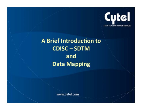 PDF) A Brief Introduc/on to CDISC - SDTM and Data Mapping ... Cdisc Sdtm Mapping on