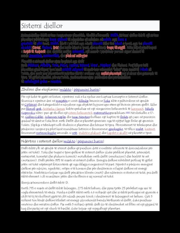DOC) Sistemi diellor docx | jasemina hasani - Academia edu