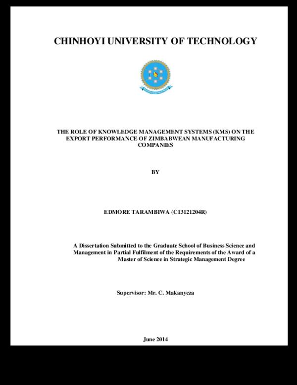 mba thesis pdf