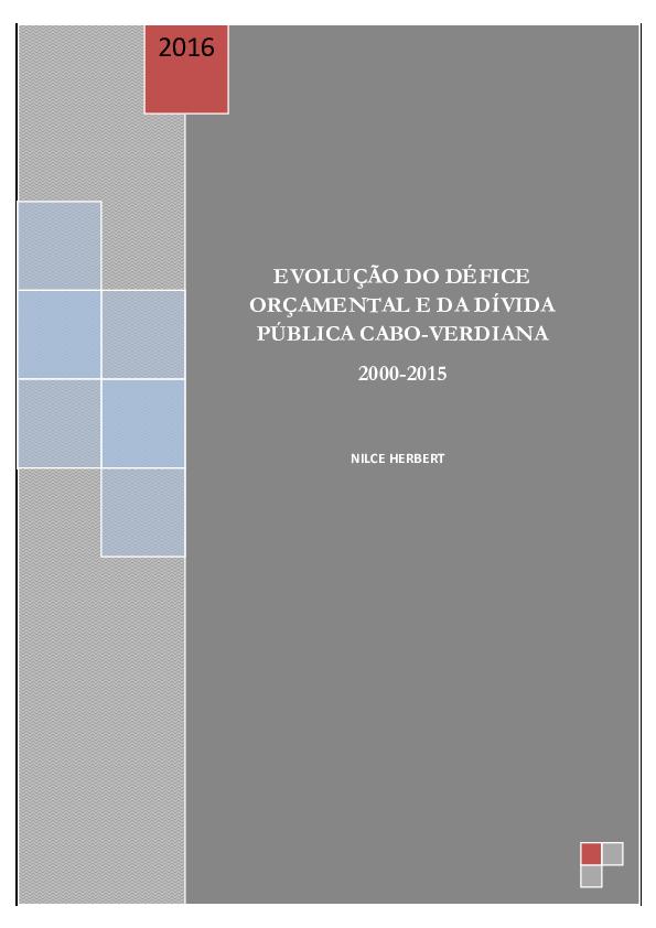 ade610b79904 PDF) EVOLUÇÃO DO DÉFICE ORÇAMENTAL E DA DÍVIDA PÚBLICA CABO-VERDIANA ...