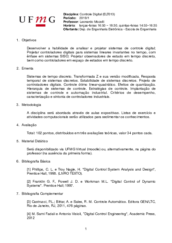 Digital Control System Research Papers Academia Edu