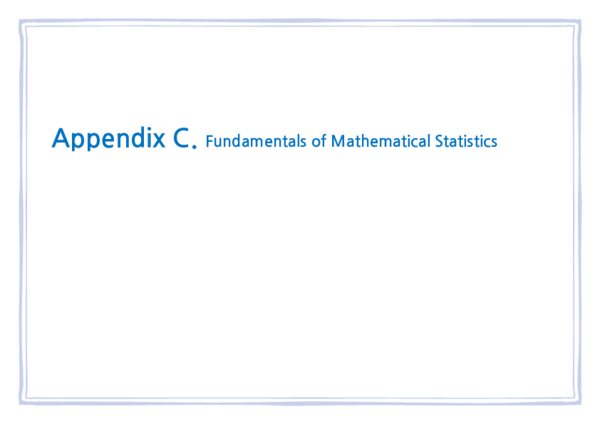 PDF) Appendix C  Fundamentals of Mathematical Statistics | May Chung