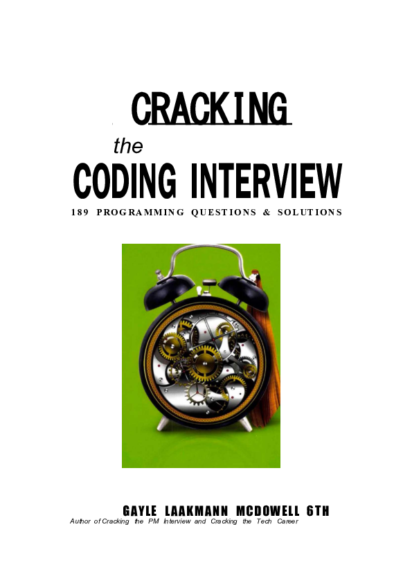 PDF) CODING INTERVIEW 189 PROGRAMMING QUESTIONS & SOLUTIONS Author